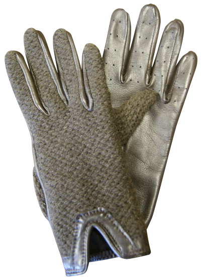 Leather / Wool driving gloves - Unlined