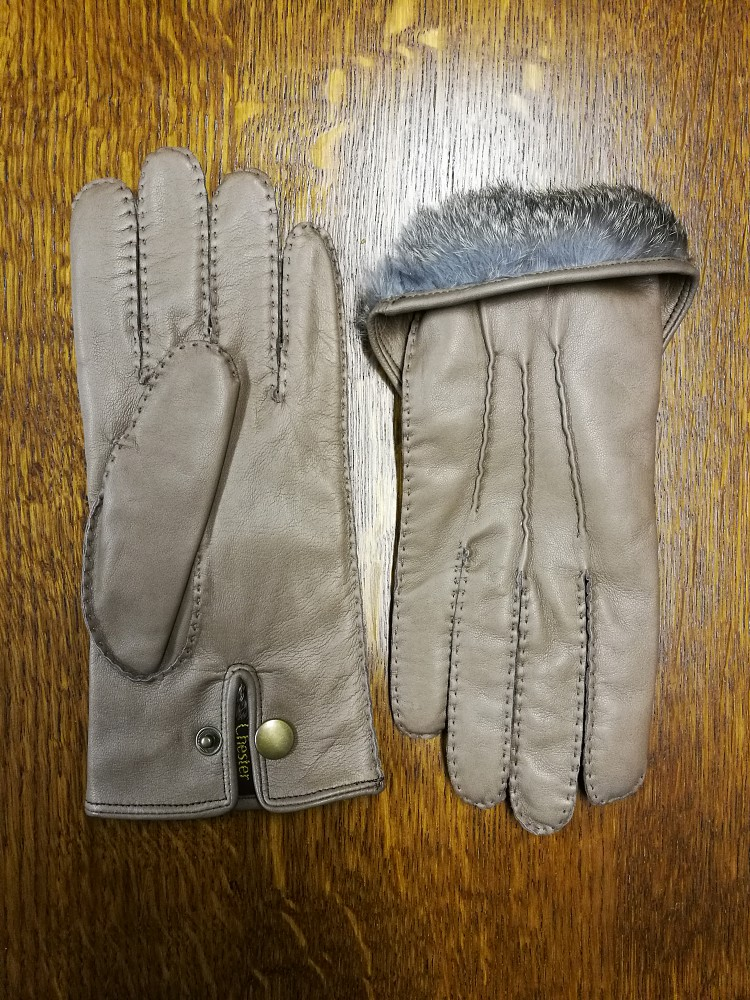 Handsewn - Taupe - Lined Fur - Size 8