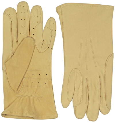 Chamois equestrian horse riding leather gloves