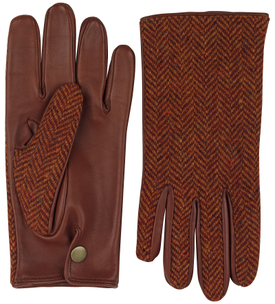 steward tweed mens leather gloves