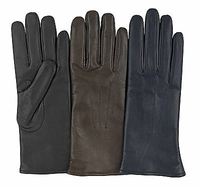 paris leather gloves navy brown
